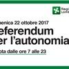 REFERENDUM CONSULTIVO REGIONALE DEL 22 OTTOBRE 2017