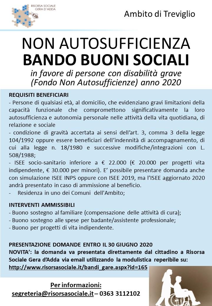 FONDO NON AUTOSUFFICIENZE 2020