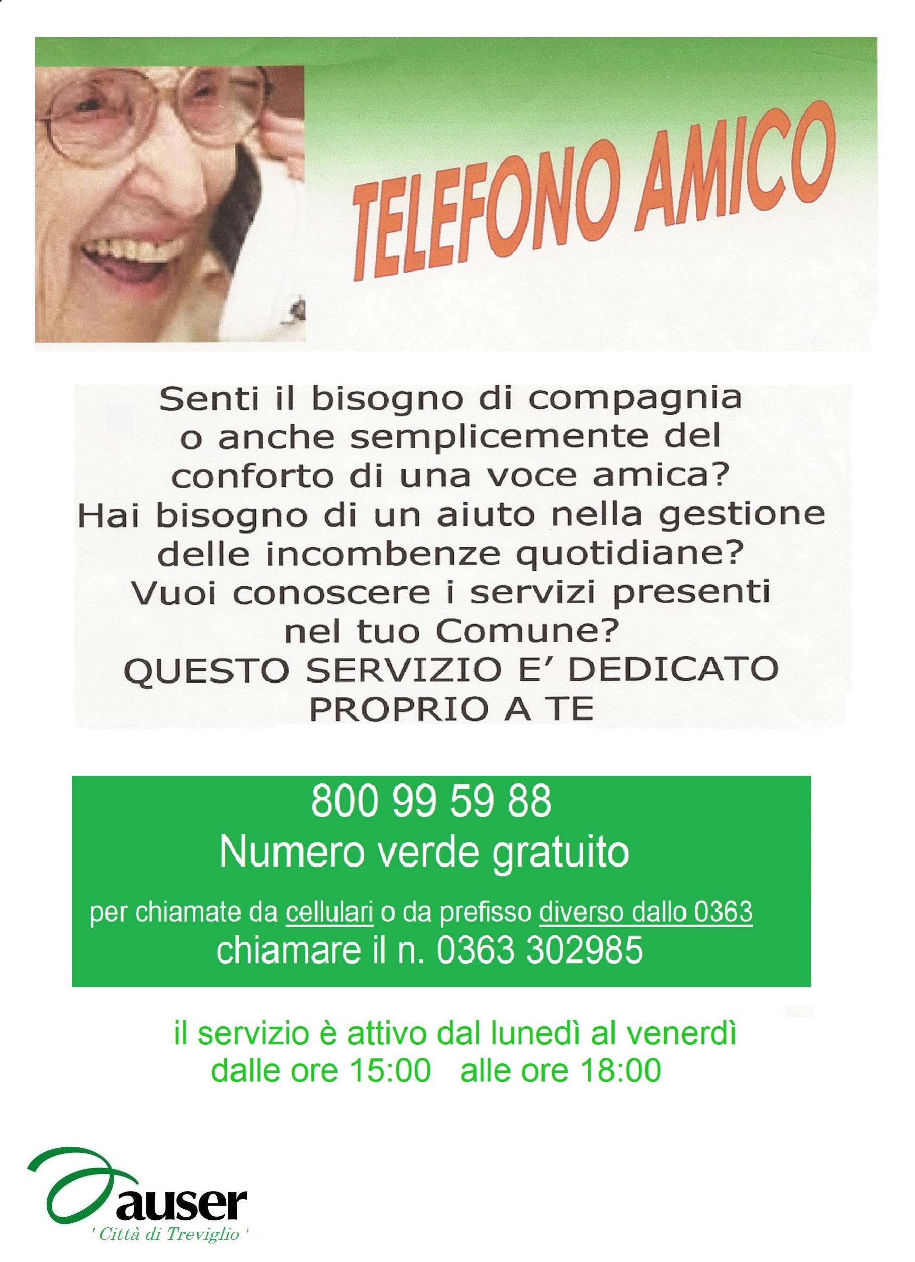 Telefono Amico Comune Di Arzago